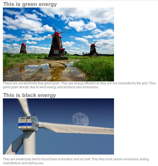 only wind mills like this are GREEN ENERGY