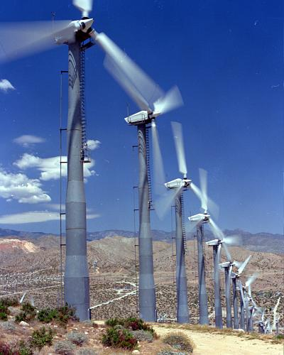 Small old wind turbines in Desert Hot Springs destroy the views and are 100% dependent on your tax money and fossil fuel